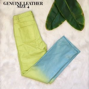 ✨Vintage ✨ MetroStyle Genuine Leather Ombre Pants